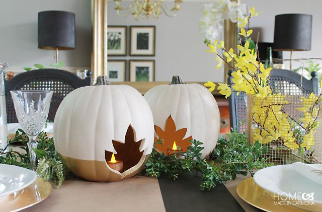 faux-pumpkin-centerpiece-candle