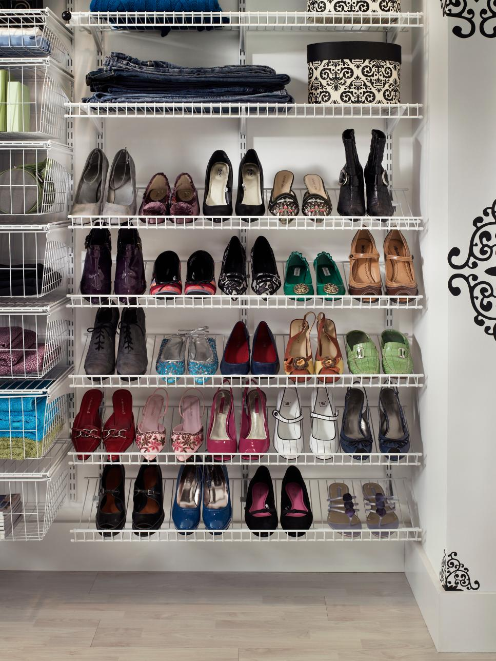 ci-closet-maid_shelf-track-white-reach-in-shoe- & Organizing Shoe Storage u2013 kelleysdiy