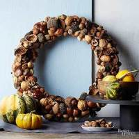 How To Make a Nut Wreath