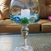 Glass Gem Candle Holder