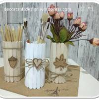 DIY Fall Multipurpose Holders From Tissue Cores & Ice Sticks — decorcraftdesign