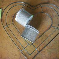 Valentines Burlap Heart