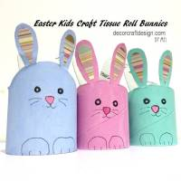 Easter Kids Craft Tissue Roll Bunnies — Decor Craft Design